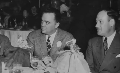 Vintage 1936, J. Edgar Hoover and Clyde Tolson at the Stork Club, NYC, www.RevWill.com