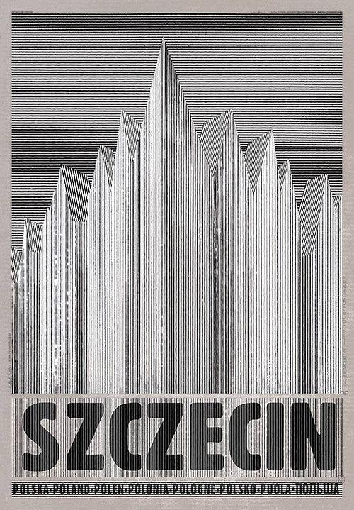 Szczecin, plakat z serii Polska, Ryszard Kaja