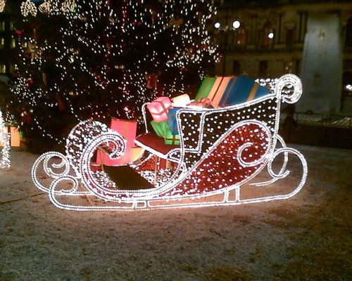 13 best Christmas sleigh images on Pinterest | Christmas parties ...