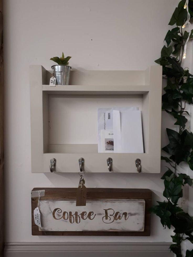 Cm Wide Key And Letter Organiser Key Hooks Letter Holder Wall Shelf Hall Tidy Hallway Accessory Entryway Mail Organisor
