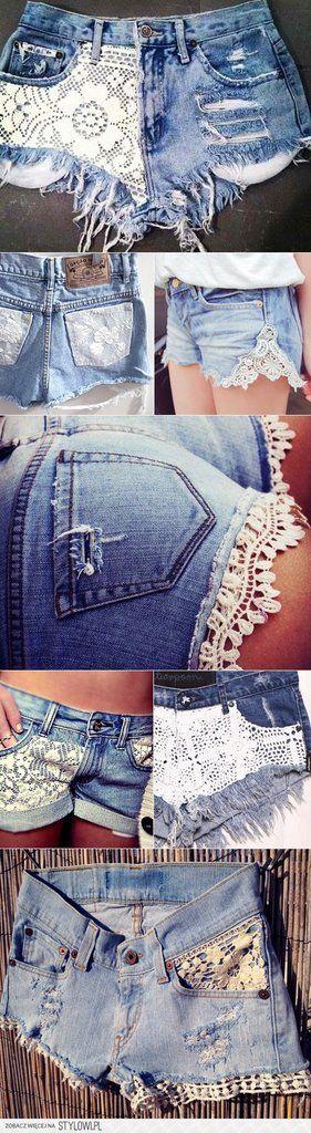 Diy Spitzen-Jeans