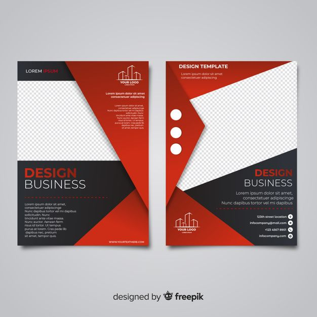 Download Modern Business Flyer Template With Flat Design For Free