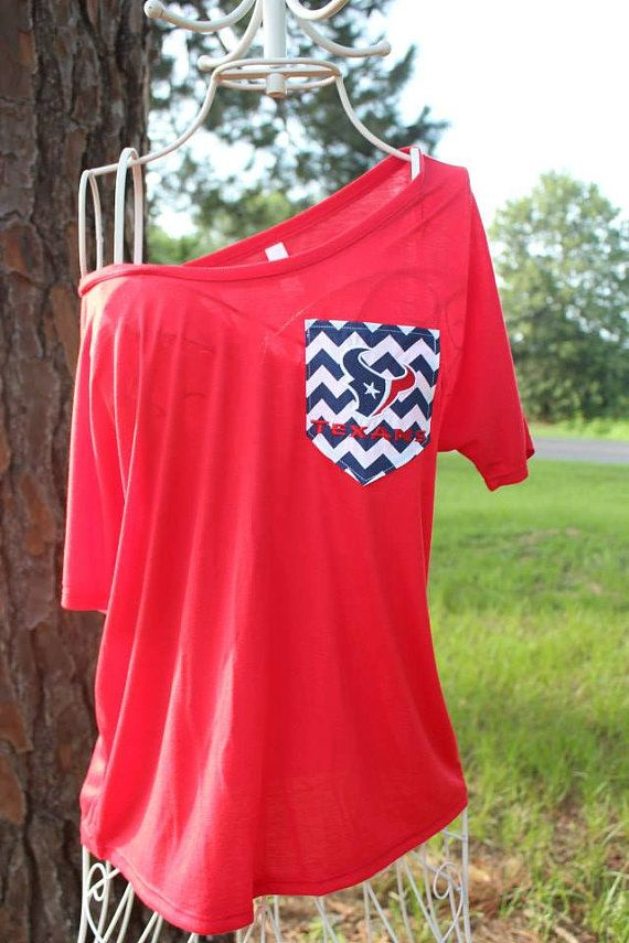 Houston Texans Off Shoulder Chevron Pocket Shirt