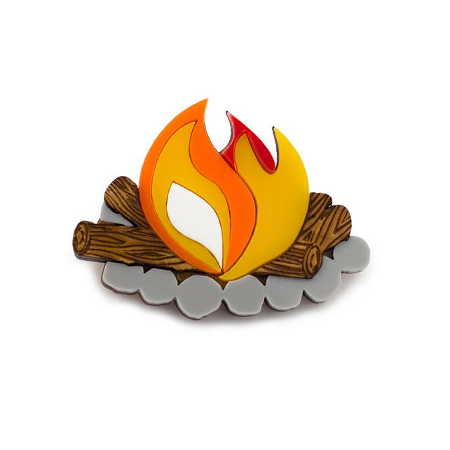 Camp Fire Brooch Great Outdoors Camping £18.00