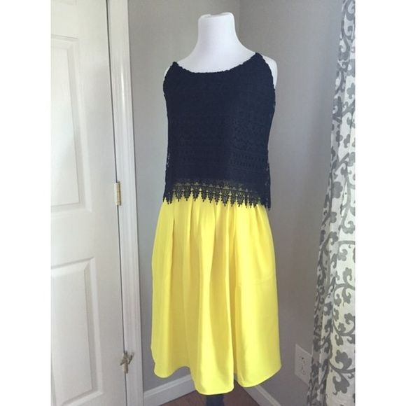 NWOT neon yellow pleated Lulu's skirt! Never worn! Super fun neon yellow pleated skirt. Has pockets! Works well with black or white tops and crop tops. Size small, but translates to a 2/4. Lulu's Skirts