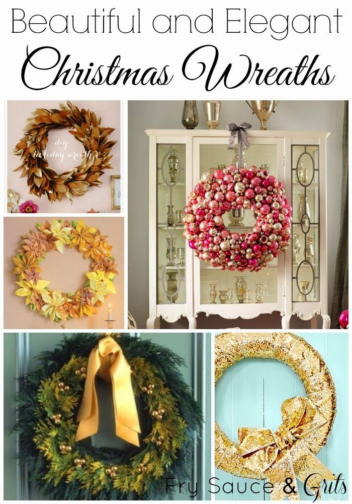 14 Beautiful and Elegant Christmas Wreaths from FrySauceandGrits.com #wreaths #christmas #decor