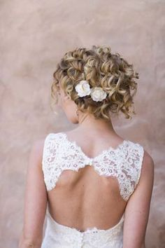 natural curly wedding hair - Google Search