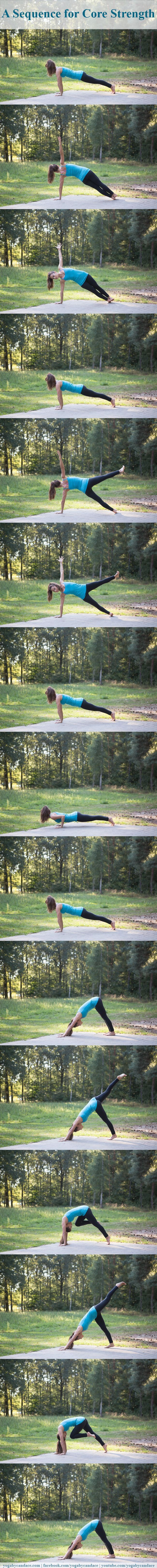 A yoga sequence for core strength you can do right from your home.Do it twice threw - 3-7 breathes each posture... definitely felt it!