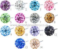 Ordered these Hypoallergenic Blomdahl titanium crystal ball stud earrings from Serenity Jewellery today :D