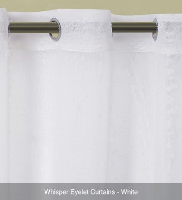 Whisper Sheer Eyelet Curtains – Ready Made White #curtains