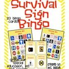 This a bingo game that would be great for Special Education - to teach life skills about the various signs you see inside and outside in the commun...