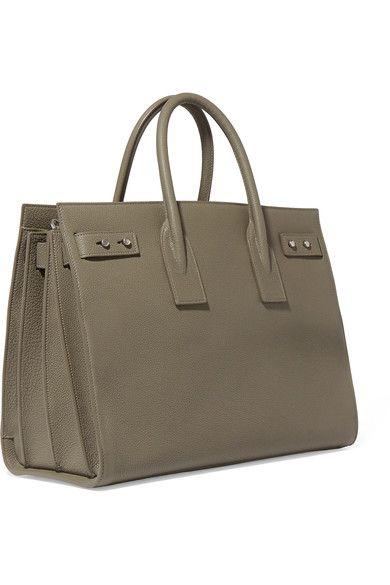 Saint Laurent - Sac De Jour Medium Textured-leather Tote - Army green - one size