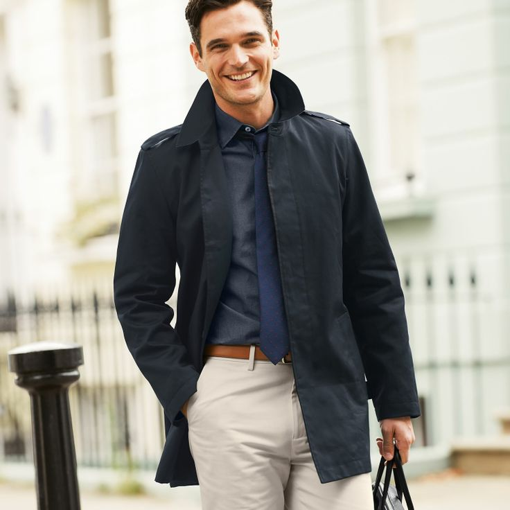 Black raincoat | Men&39s coats from Charles Tyrwhitt Jermyn Street