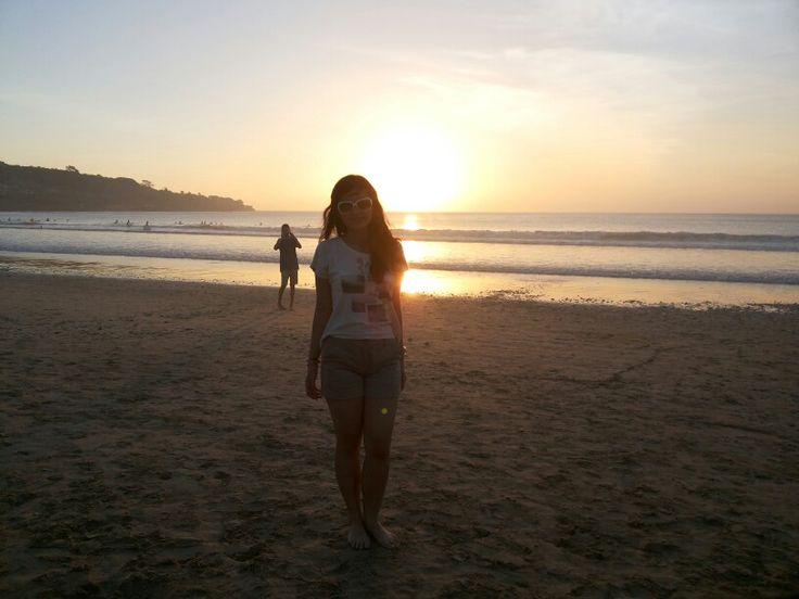 Me @Jimbaran Jingga during sunset