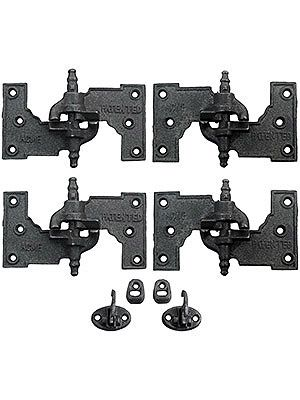 "Shutter Hinges. ""Acme"" Cast Iron Mortise Shutter Hinges - 6 1/2"" x 3 1/2"""