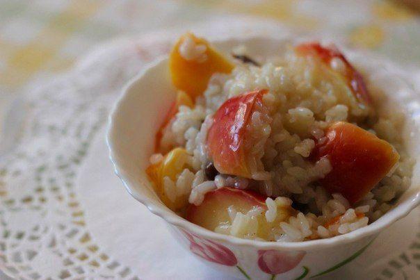sladká rýže s jablky