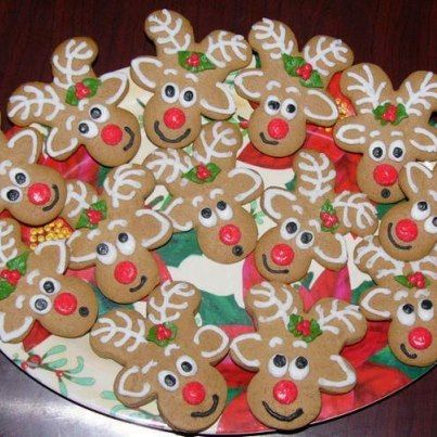 Children's reindeer cookies