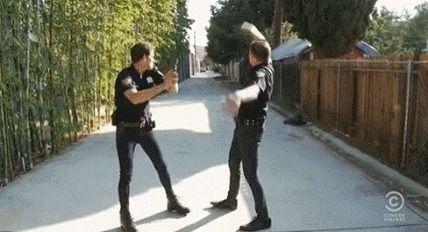 Skinny jeans cops