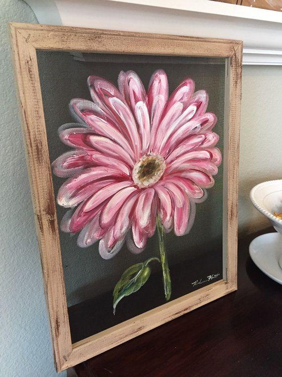 Gerber daisypink daisypink flowerflowerwindow by RebecaFlottArts