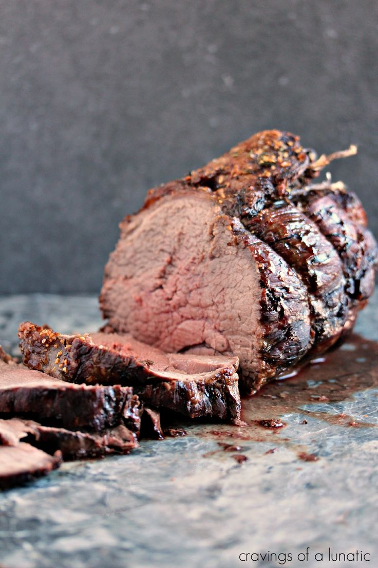 Top Sirloin Beef Roast- Easy to make yet impressive to serve for dinner. This beef roast recipe is easily adaptable to cook to your own taste. Enjoy! Get the recipe at cravingsofalunatic.com