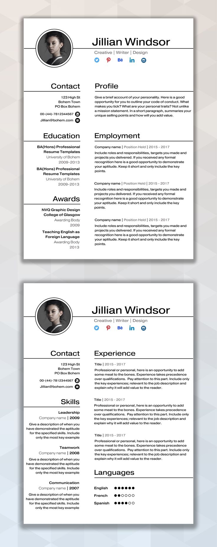 Best Resume Pins Images On   Resume Ideas Resume