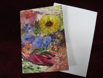 """""""Asterit"""" mehiläisvahalla maalattu kortti"""