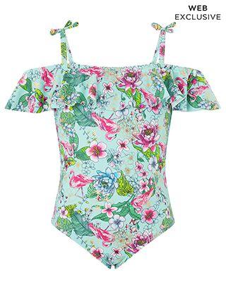 969ce536613ed Monsoon   Mini Fabianna Swimsuit   Blue   3-4 Years   4171150423 ...