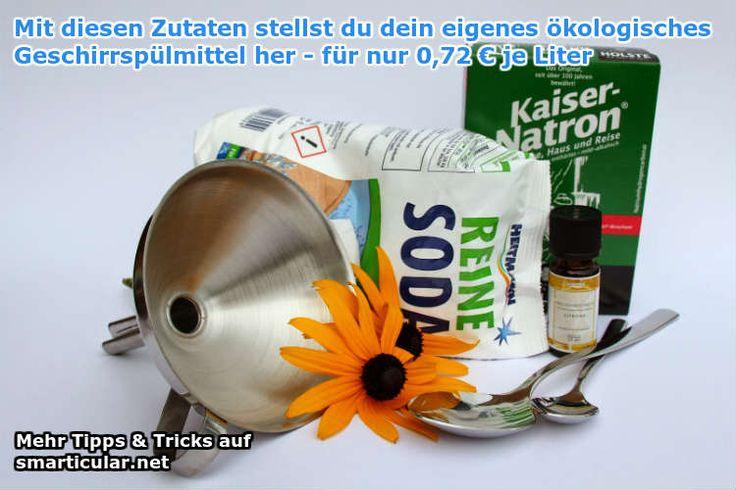 Geschirrspülmittel günstig und ökologisch selbst herstellen