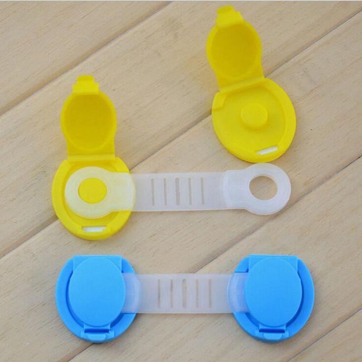 1 Stück Baby Kind Kinder Schubladenschrank Schloss Lange Stil Sicherheitsschloss Kühlschrank Schrank Türschloss Kunststoff Schrankschlössern