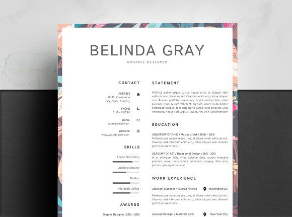 Clean Resume Template Floral Resumes Functional Resume Template Resume Design Template Clean Resume Template