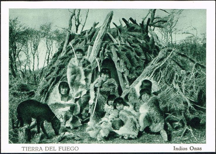 2952 CHILE TIERRA DEL FUEGO MAGALLANES STRAIT ONA INDIAN POSTCARD