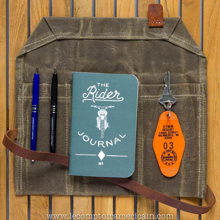 Biker Journal Kit #utilityRoll #waxcoton #Cotonhuilé #Stylo #pen #SKILCRAFT #Theriderjournal #ironandresin #Motel #USA #amérique #porteclé #keychain