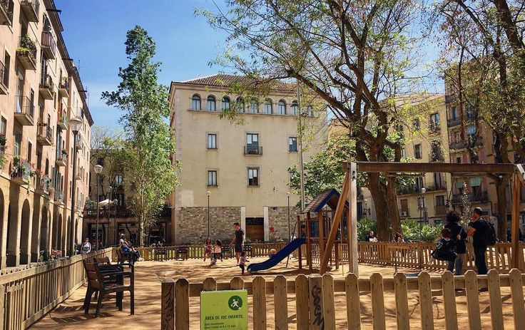 Children playgrounds in Barcelona