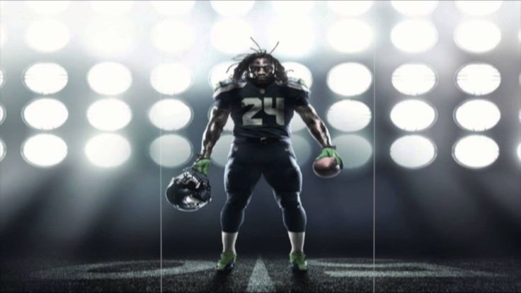 "Marshawn Lynch - ""Beast Mode"" - By Young Rebel (Seattle Seahawks) - 2012..."