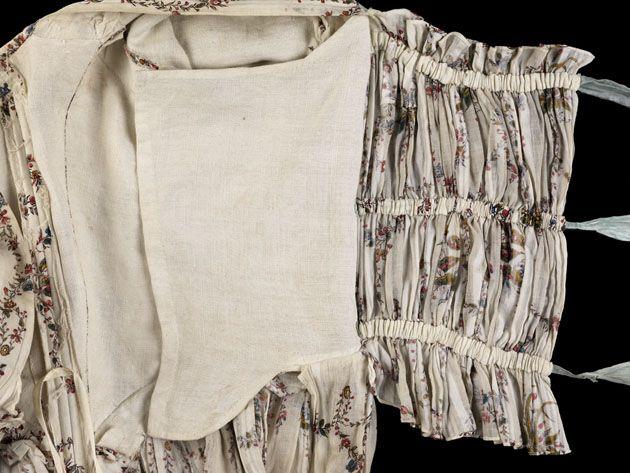 Cotton gown bodice, 1785–90  © CSG CIC