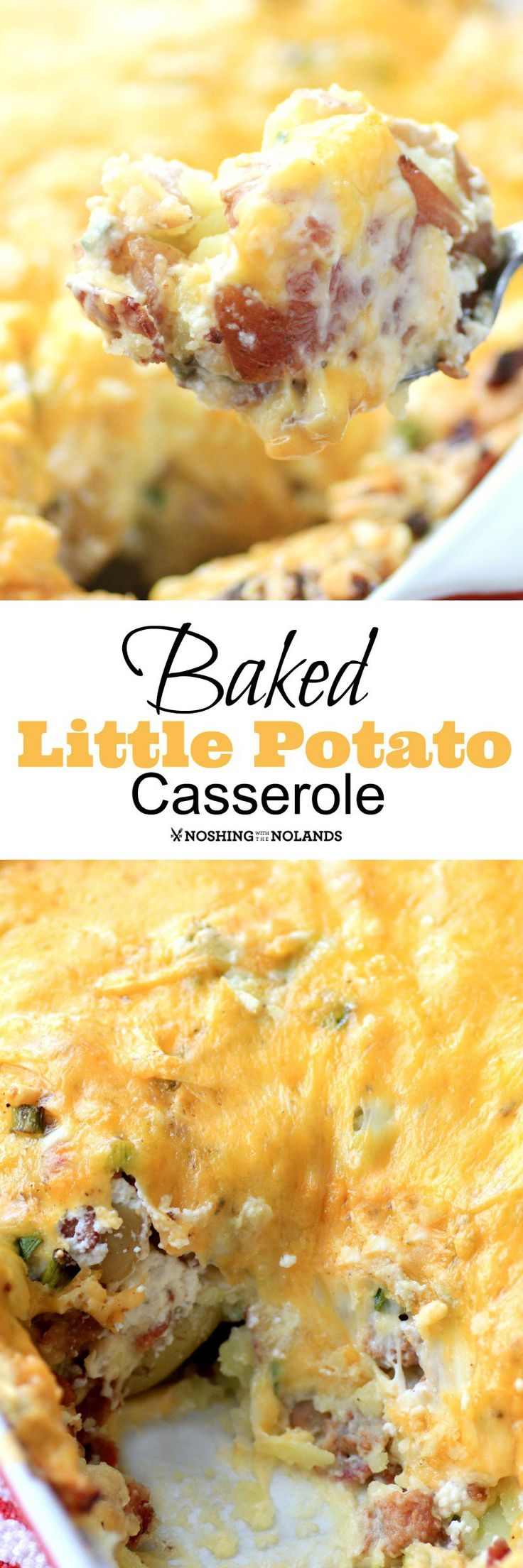 MWM Baked Little Potato Casserole by Noshing With The Nolands is a lightened dish made with Creamer potatoes and cheese! Easy to make this would be a perfect side dish for Easter!