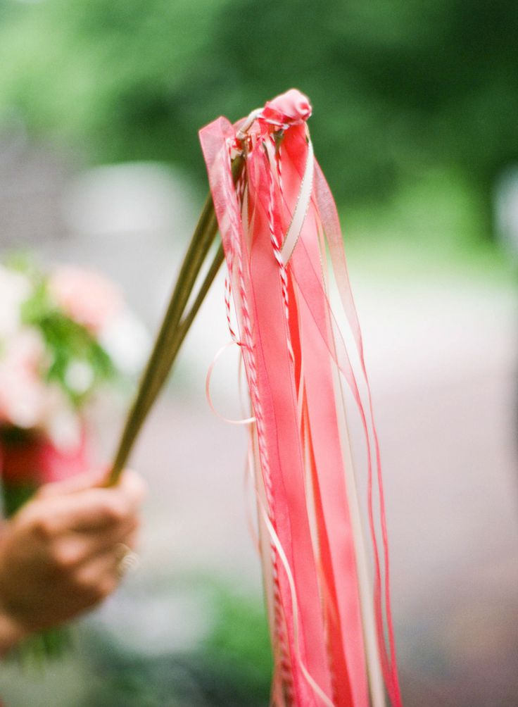 #Ribbon Wands | See the wedding on SMP - http://www.StyleMePretty.com/2013/11/26/kansas-city-wedding-from-emily-steffen/ Emily Steffen Photography