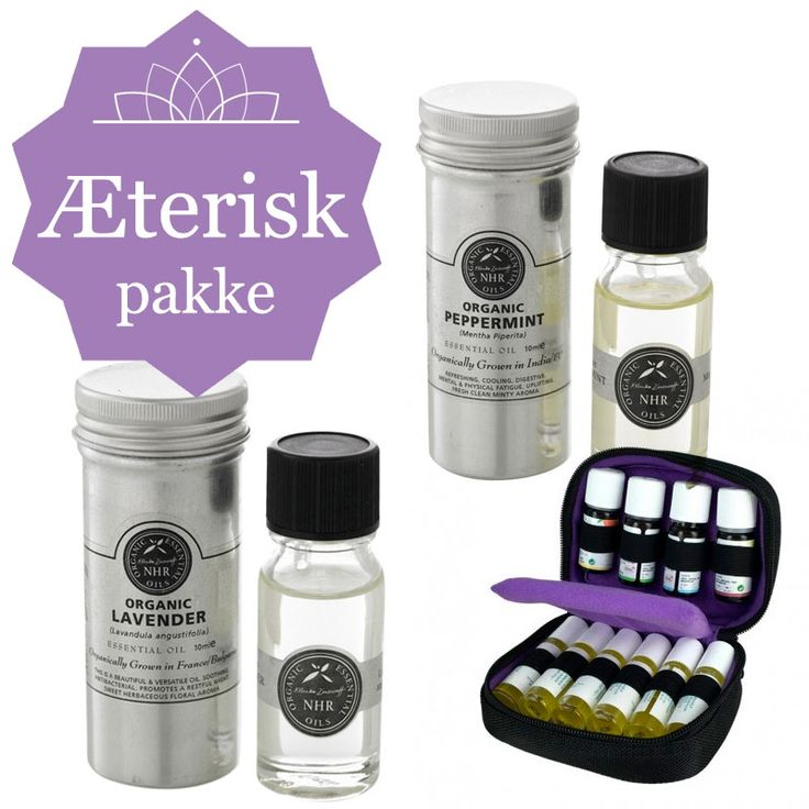 AROMATERAPI STARTSÆT- med pebermynte & lavendelolie & taske