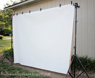 """The BEST EVER """"how to"""" for Back yard movie night. wonderful instructions"""