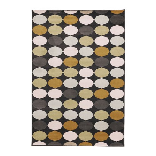 IKEA TORRILD Rug, low pile Multicolour 133x195 cm The dense, thick pile dampens sound and provides a soft surface to walk on.