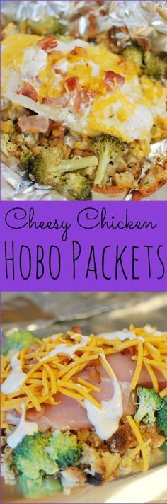 Cheesy Chicken Hobo Packs