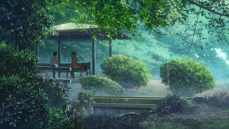 The Garden of Words: A 2013 Japanese anime film produced by CoMix Wave Films and directed by Makoto Shinkai