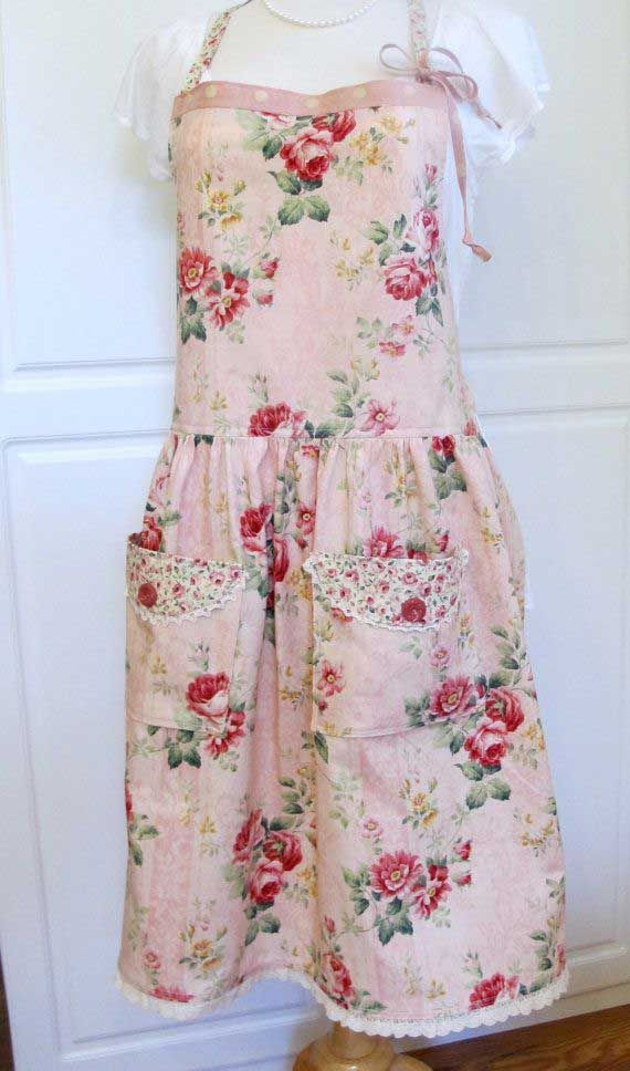 77 best shabby chic aprons and kitchen linens images on pinterest rh pinterest com  shabby chic apron pattern
