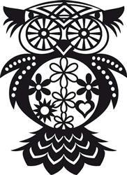 Silhouet sjabloon - 30 x 30 cm, uil - Verven - kleuren - tekenen | Sjablonen en toebehoren