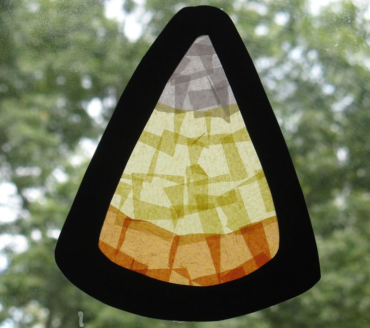 Stained Glass Candy Corn