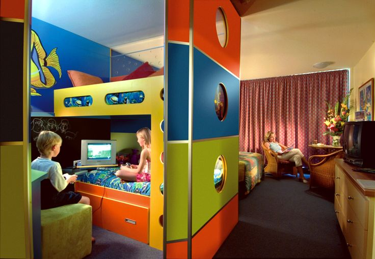 The junior bunkhouses are an a kids paradise when it comes to somewhere to sleep! It also separates the kids from the parents for a little more peace and quiet!