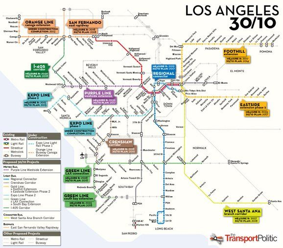La Subway Map Year.Behold The Plan To Remake Los Angeles Transit In 10 Years Dreams