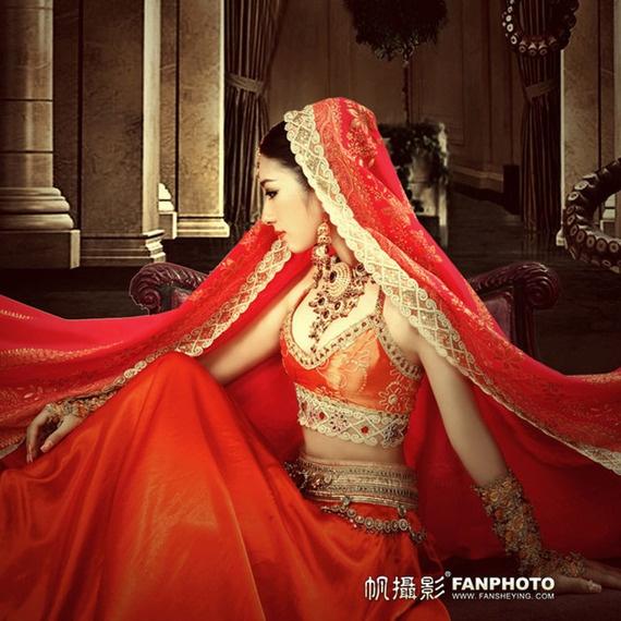2012新款影楼主题摄影写真女装 印度异域风格纱丽 帆摄影古装印象-逛宝贝-爱逛街-淘宝网