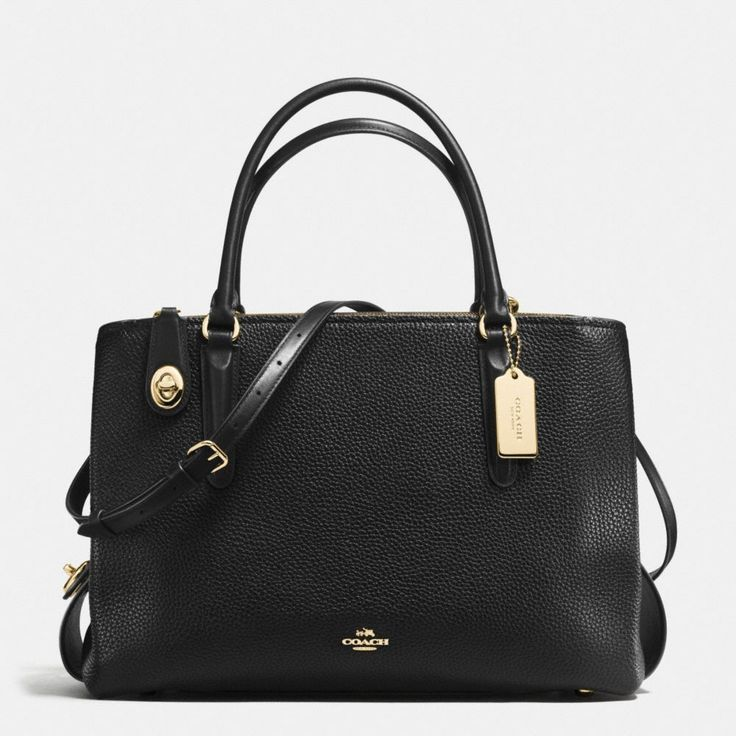 Shop The COACH Brooklyn Carryall 34 In Pebble Leather. Enjoy Complimentary Shipping