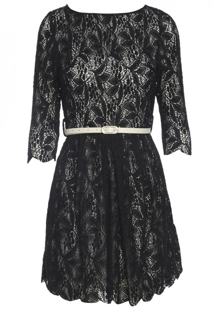 Lace Belted Skater Dress $49 shopmodmint.com